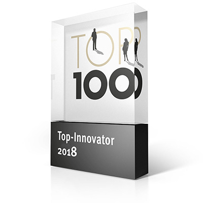 Logo for Top 100 Innovator of the Year 2018