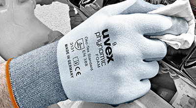 uvex safety gloves with CE mark
