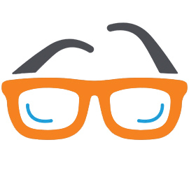orange glasses frames graphic