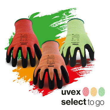 uvex SelectToGo - The 3 colour glove system
