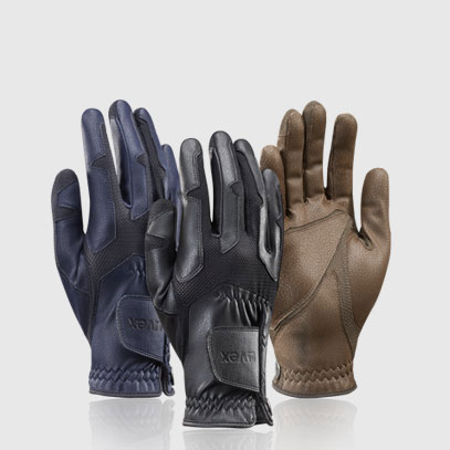 Equestrian riding gloves