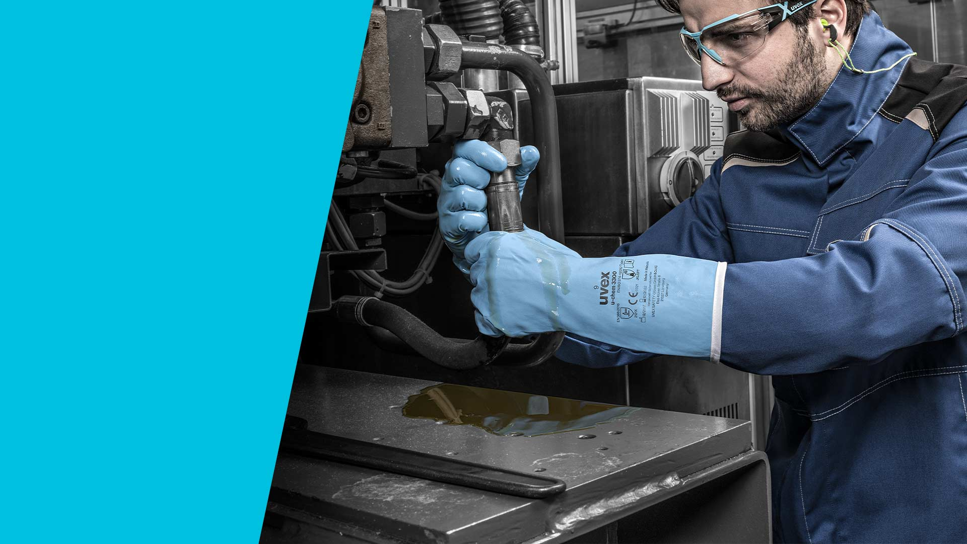 uvex chemical protection gloves