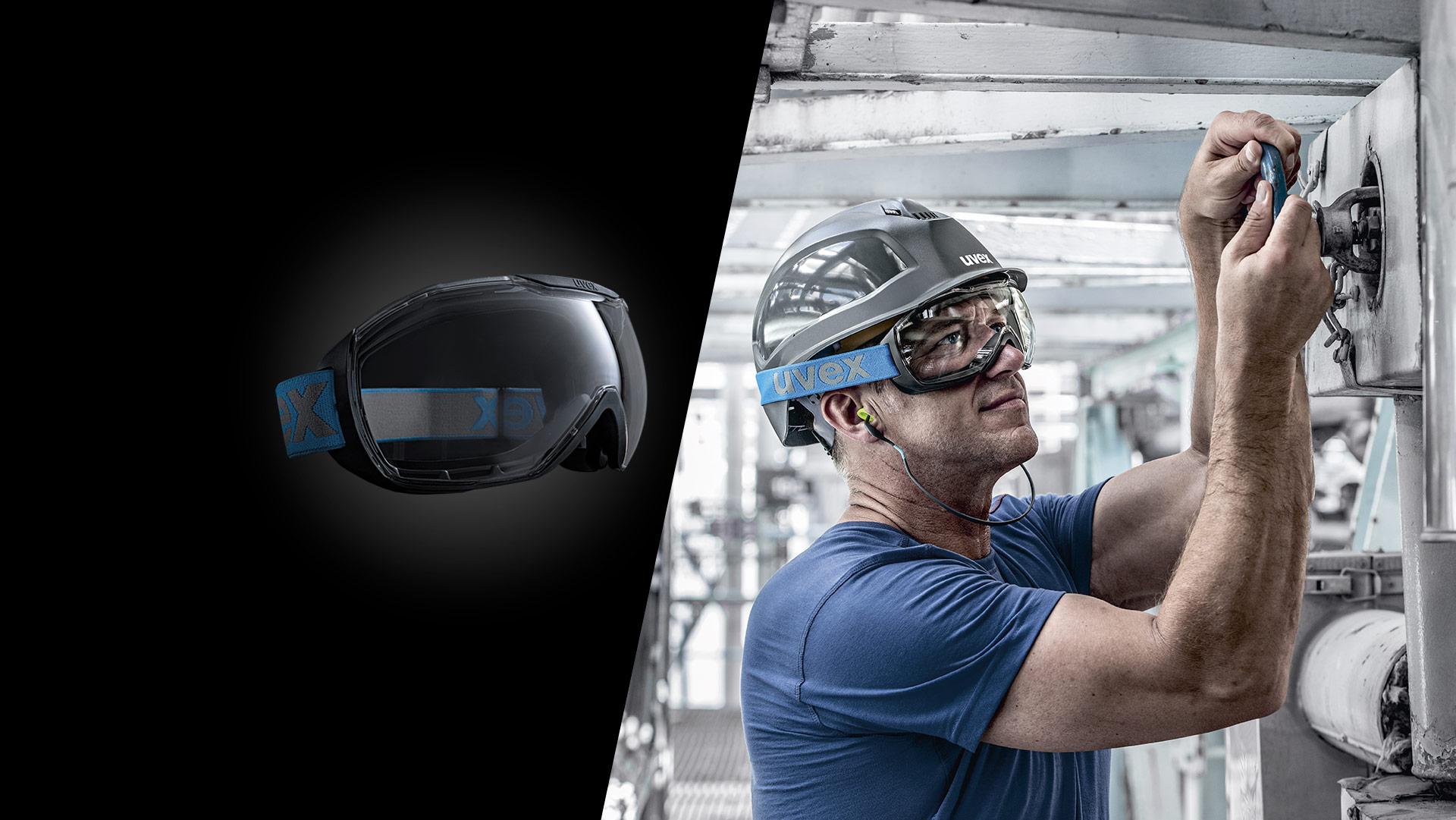 uvex megasonic safety goggles