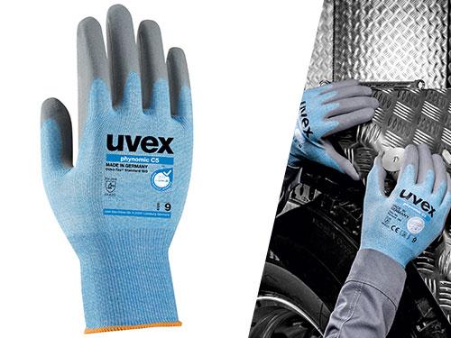 uvex phynomic C5 cut protection glove