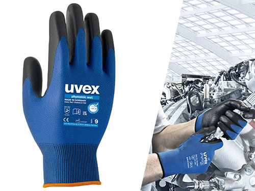 uvex phynomic wet safety glove 60060