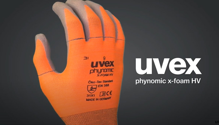 Watch the uvex phynomic x-foam HV gloves video on YouTube