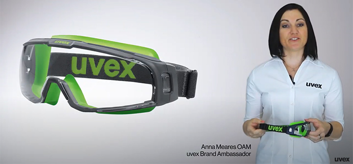 Anna Meares reviews uvex u-sonic safety goggles