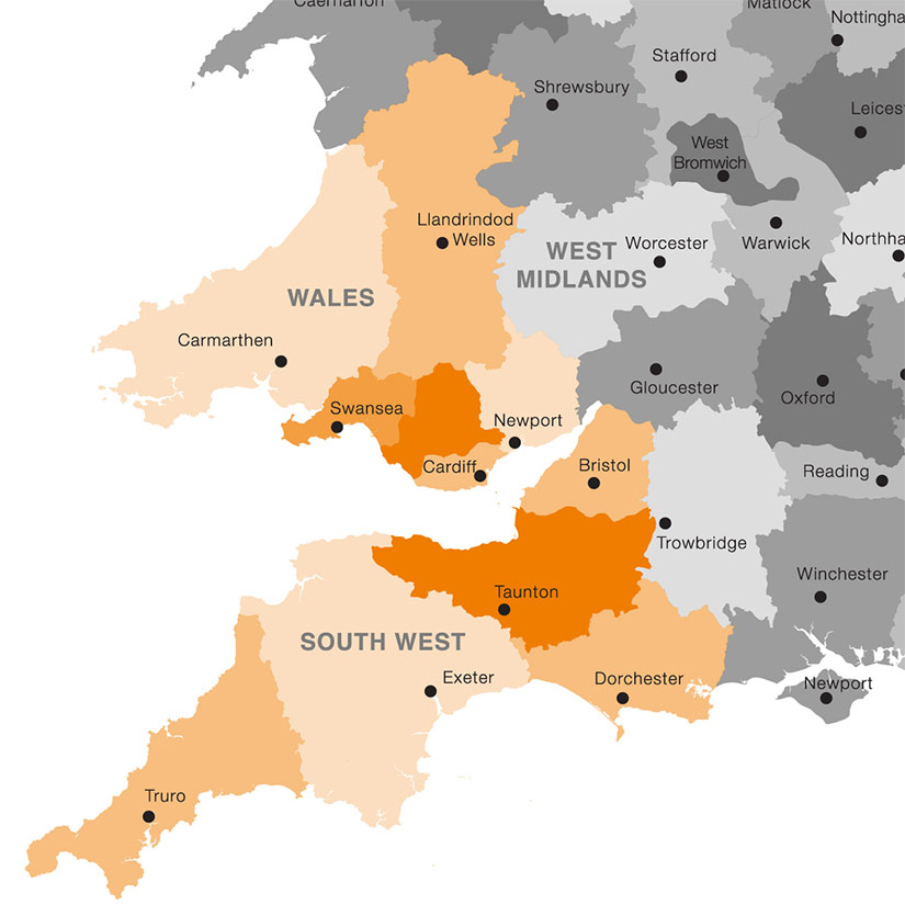 South West and Wales