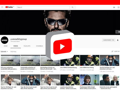 Follow uvex on YouTube