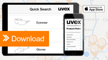 download the uvex product finder app