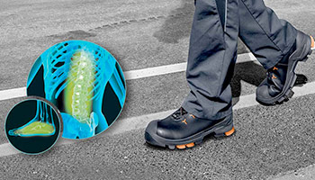 Anti-fatigue safety footwear from uvex
