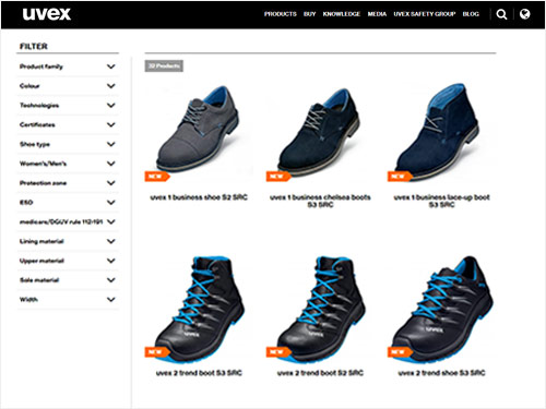 Explore our safety footwear range