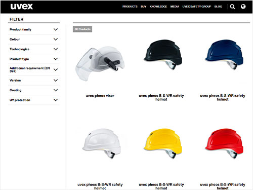 Discover our safety helmet range