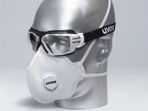 Combination with uvex protective eyewear