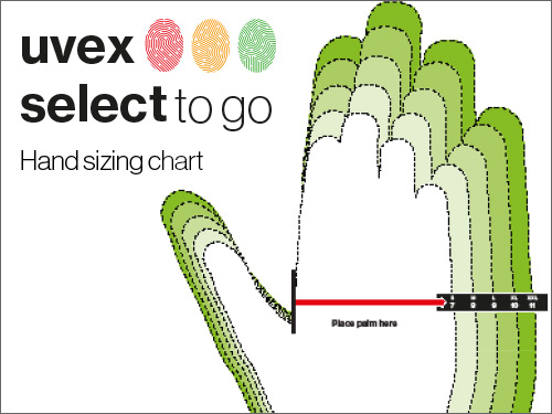 Doanload our uvex hand sizing chart