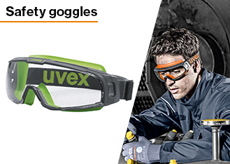uvex manufacture a range of safety goggles