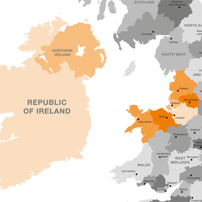 Ken Evans North West, Northern Ireland, Republic of Ireland