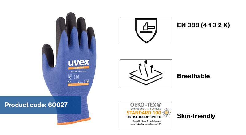 uvex athletic safety gloves