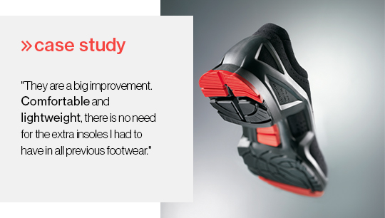 uvex 1 reduces foot ache by 53% and improves comfort by 38%