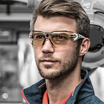 Contrast enhancing safety eyewear