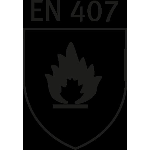 DIN EN 407 safety standards logo
