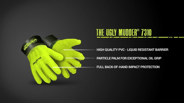 Chemical Resistant Work Gloves   Ugly Mudder® 7310