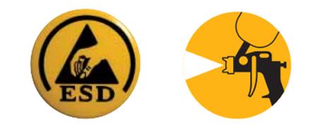 [Translate to Norwegian:] Die Sohlenmaterialien von Schuhen mit diesem Kennzeichen wurden von der Automobilindustrie entsprechend geprüft und freigegeben.