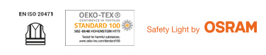 tested, certified, safe: uvex vests with LED guide system