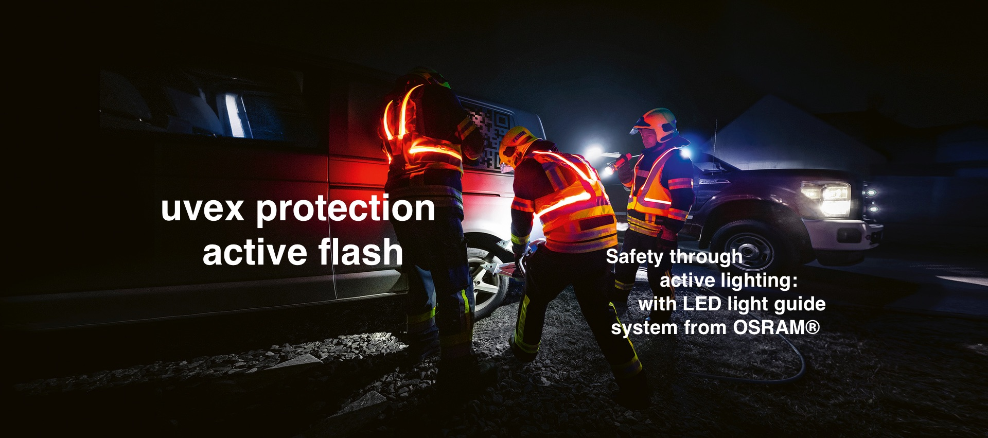 [Translate to Dutch:] safety through active lighting for firefighting