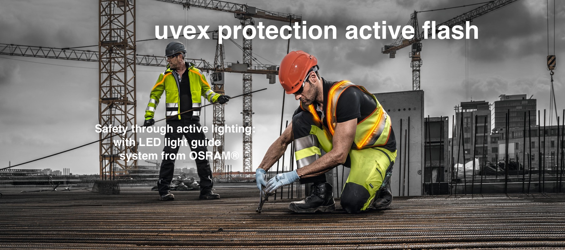 [Translate to Dutch:] Be visible, be safe – with an active LED lighting vest from uvex