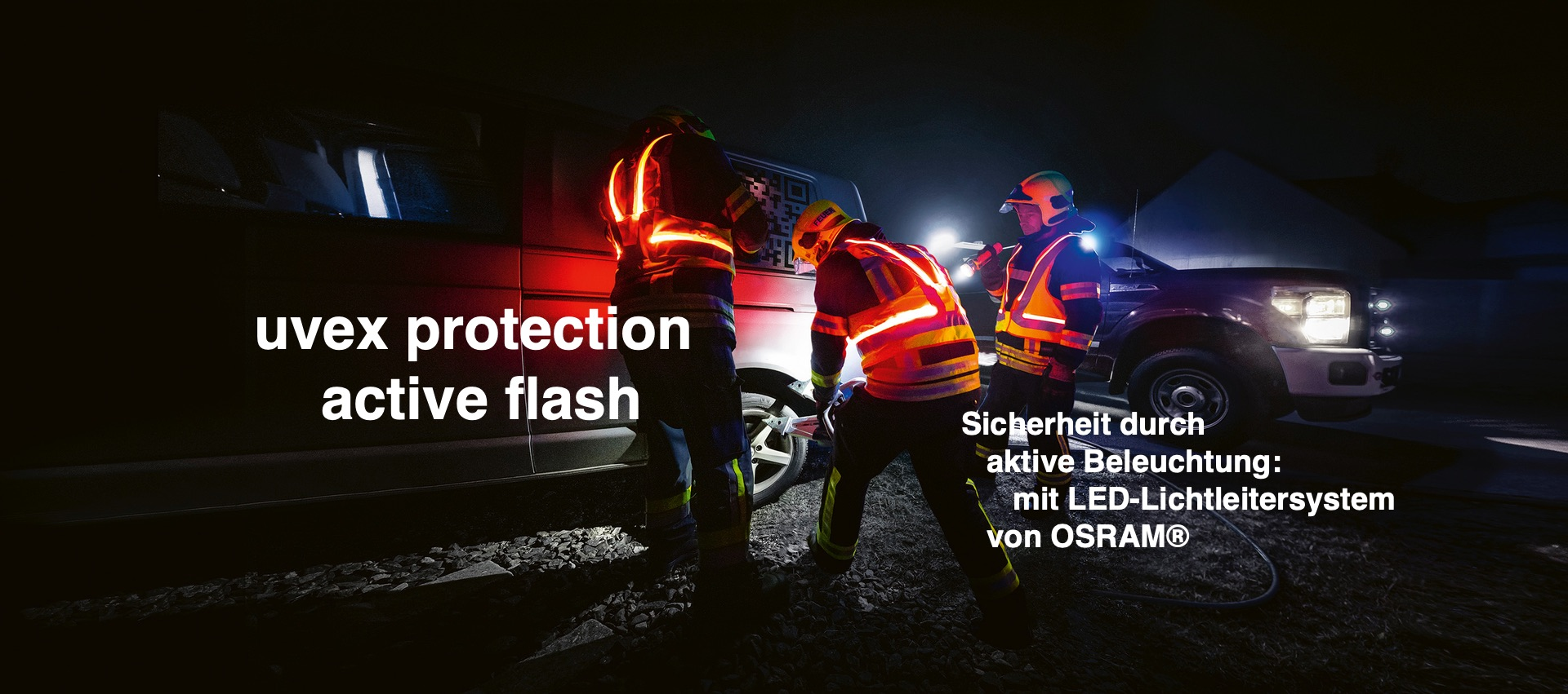 Sicherheit im Straßenverkehr und überall sonst, wo es dunkel ist – mit der aktiven Leuchtweste von uvex