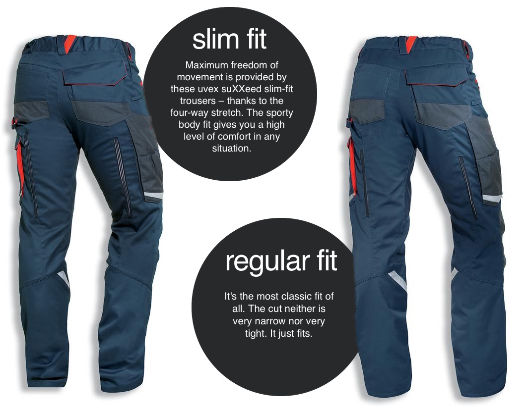 slim fit or regular: everybody finds his perfect fit with these trousers