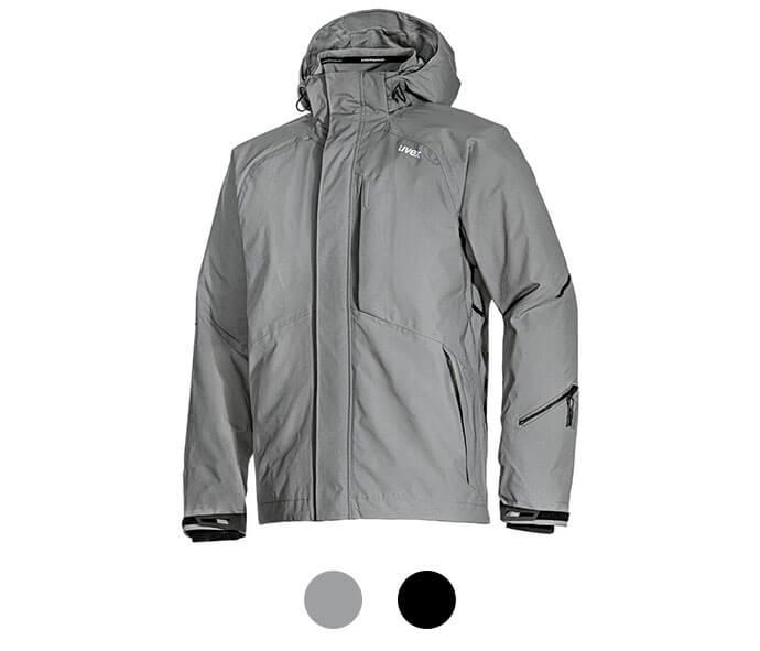 uvex Herren Funktionsjacke grau schwarz Outdoorjacke