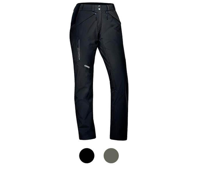 uvex Damen Outdoorhose wetterfest schwarz grau