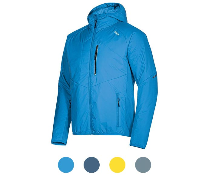 uvex Herren Outdoorjacke blau gelb Thermojacke