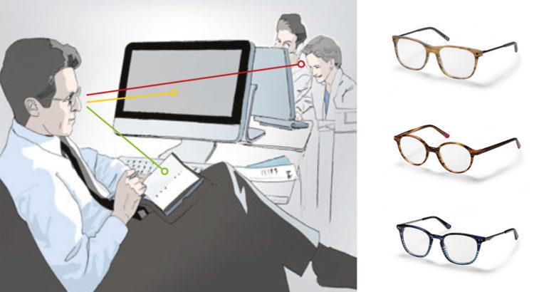 Nahcomfort-Gläser für uvex Korrektionsschutzbrillen