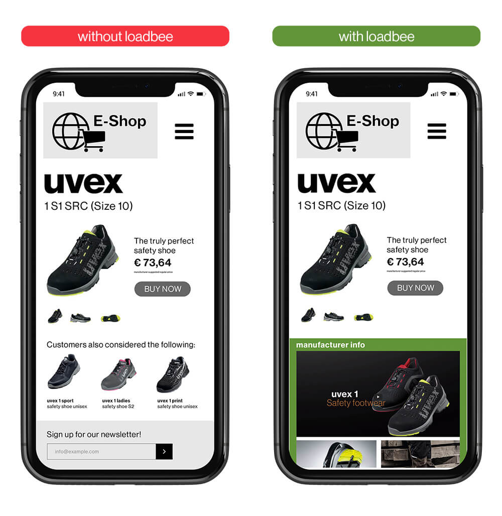 loadbee – uvex premium content interface