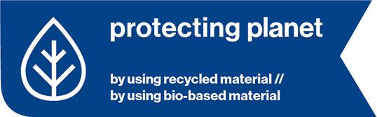 Schutzhelm aus recycelten Materialien