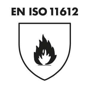 EN ISO 11612 A1, B1, C1, E1, F1: protective clothing for workers exposed to heat