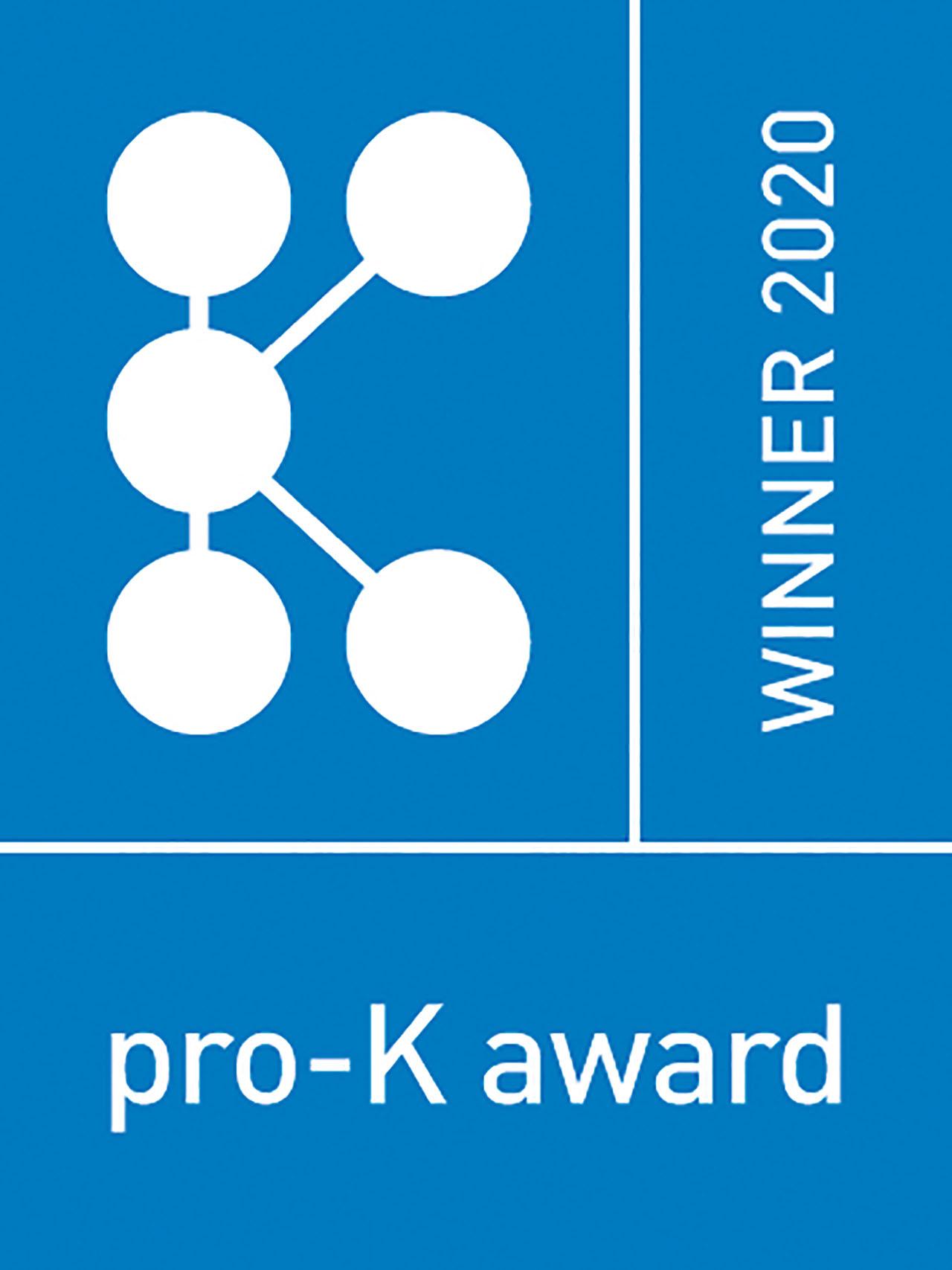 pro-K award Winner 2020