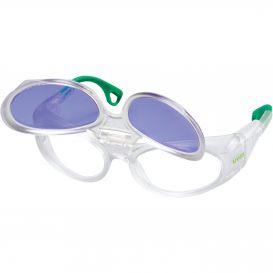 Dioptrické ochranné brýle uvex RX cd 5505 flip-up Didymium