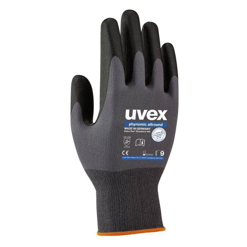 guantes de protecci/ón hidr/ófugos Gris 3 pares de guantes multiusos para jard/ín guantes de trabajo ligeros UVEX SAFETY Phynomic Allround Guantes de protecci/ón multiusos herramientas y empresas