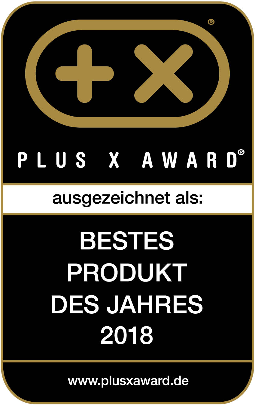 Plus X Award - Bestes Produkt 2018