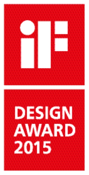Mottok pris ved iF Design Award i 2015
