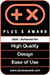 Plus X Award 2020 - High Quality, Design, Ease of use