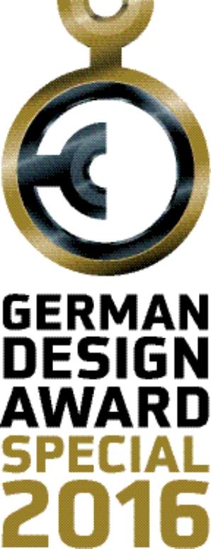 Mottok den tyske designprisen i klasse Særlig utvalgt i 2016