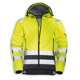 uvex protection active flash + storm softshell jacket