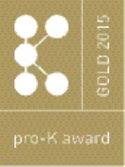 Vinner av pro-K Award Gold i 2015