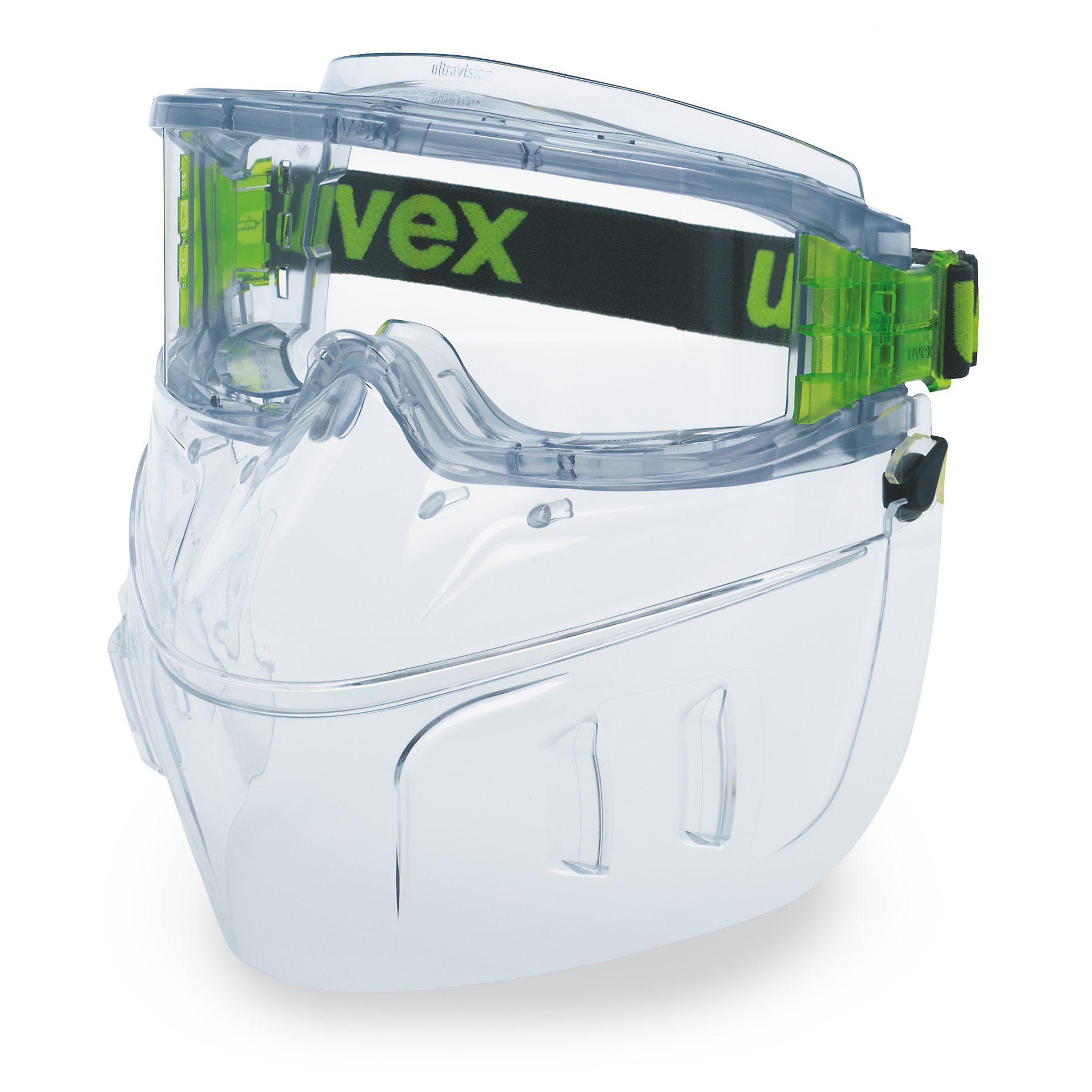 Lunettes de protection panoramiques uvex ultravision avec protection  respiratoire   Lunettes de protection   uvex safety cd76123ca900
